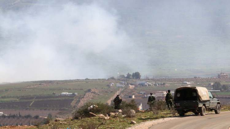 المضادات الجوية السورية تصيب طائرة عسكرية لبنانية