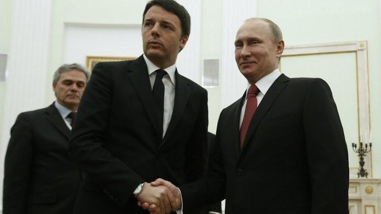 الكرملين: بوتين بحث مع رئيس الحكومة الإيطالية الوضع في سوريا وأزمة السعودية وإيران