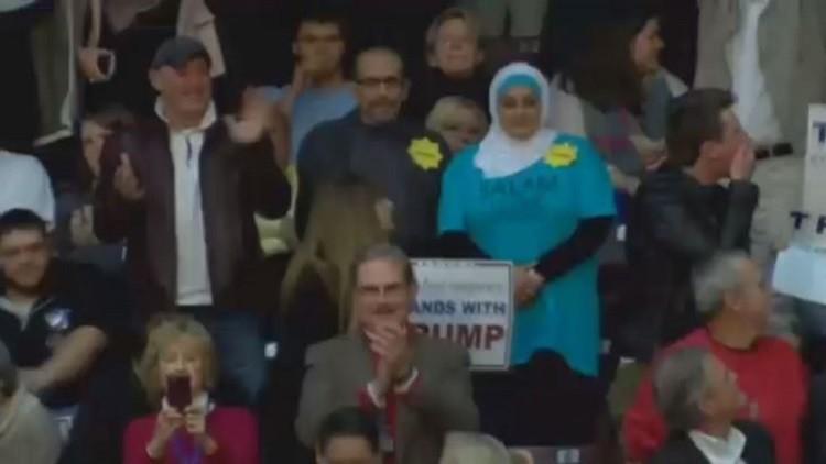 طرد محجبة مسلمة من مؤتمر انتخابي لترامب (فيديو)