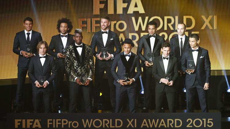 ريال مدريد وبرشلونة يهيمنان على التشكيلة المثالية لعام 2015 .. (صور)