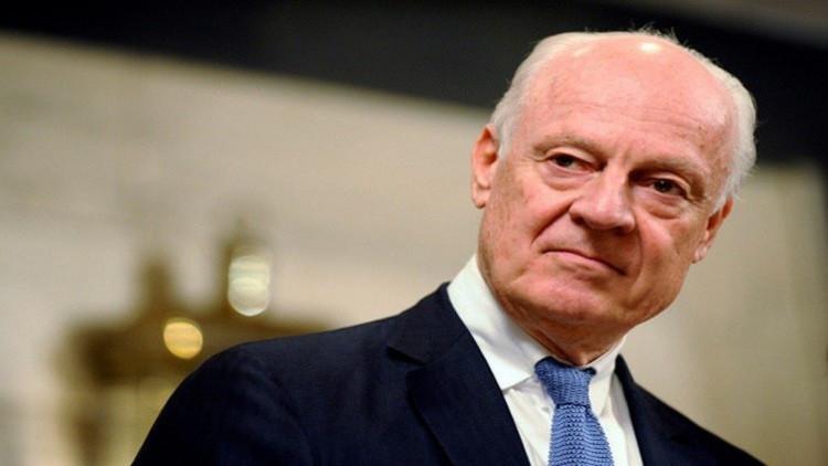 دي ميستورا يبحث الأزمة السورية مع ممثلي الأعضاء الدائمين بمجلس الأمن الأربعاء