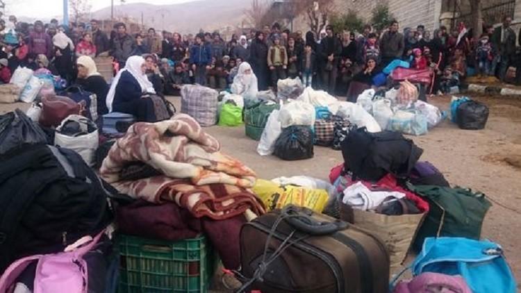 قافلة جديدة من المساعدات الإنسانية لمضايا في ريف دمشق