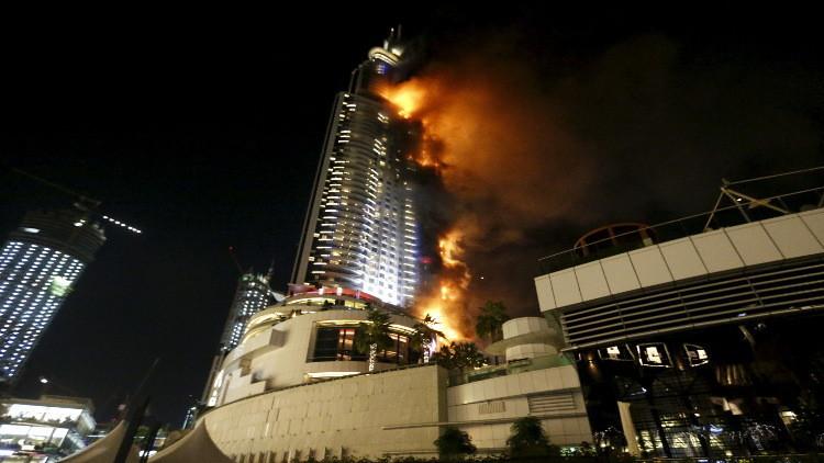 شرطة دبي تكشف أسباب اندلاع حريق ليلة رأس السنة
