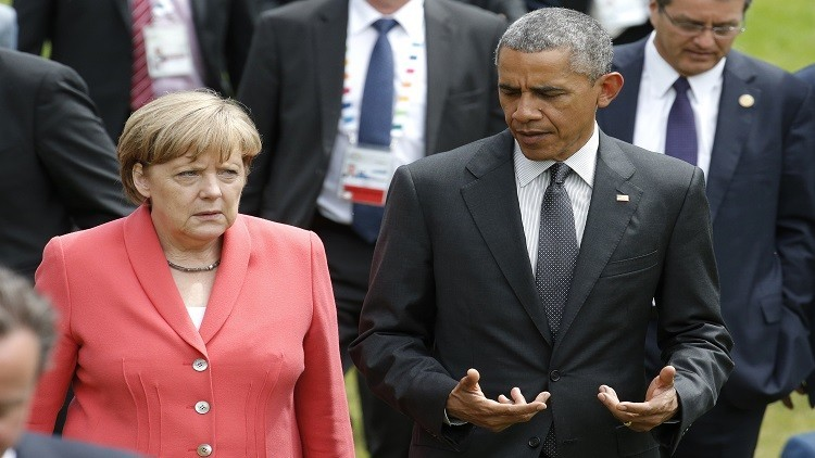 واشنطن: أوباما وميركل ناقشان أزمة اللاجئين في أوروبا