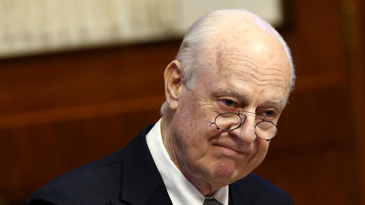 دي ميستورا يتهم الرياض بعرقلة إطلاق مفاوضات السلام السورية