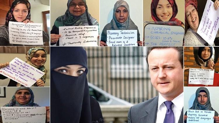 مسلمات بريطانيا ساخطات على كاميرون: كم لغة تتحدث أنت؟