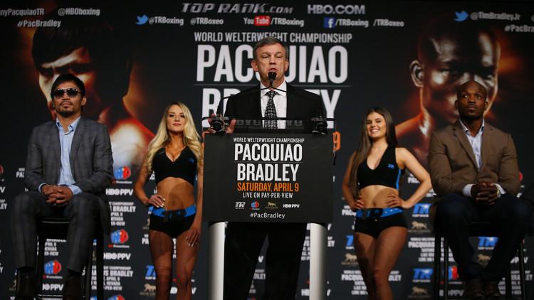 باكياو يعود لمواجهة الملاكم الأمريكي برادلي في نزال ثالث