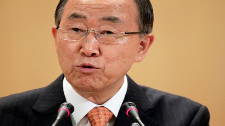 بان كي مون يرفض الاتهامات الإسرائيلية بشأن دعمه للإرهاب