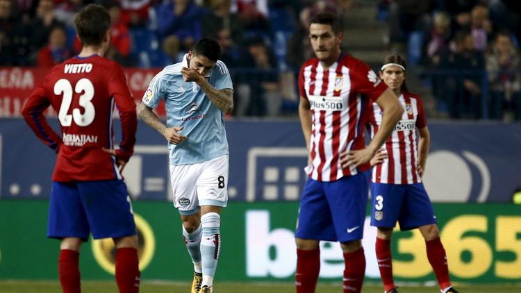 سيلتا فيغو يقصي أتلتيكو مدريد من كأس إسبانيا