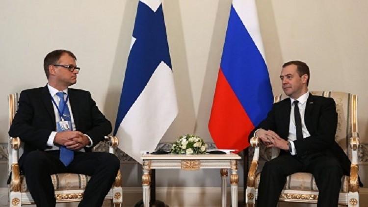 مدفيديف: روسيا وفنلندا ستواصلان التعاون ضمن مشروع الغاز