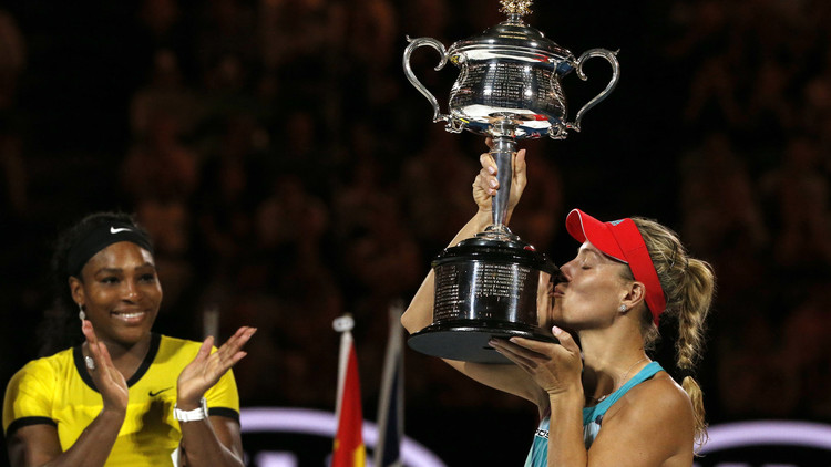 الألمانية كيربر تحرز بطولة أستراليا للتنس على حساب سيرينا (فيديو)