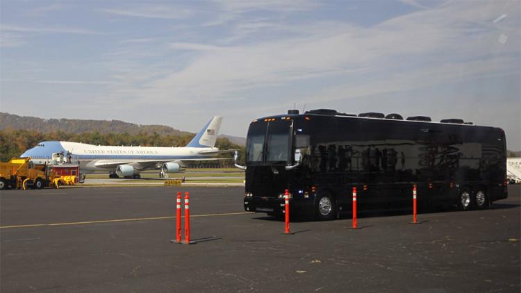 بالصور.. حافلة أوباما المدرعة!