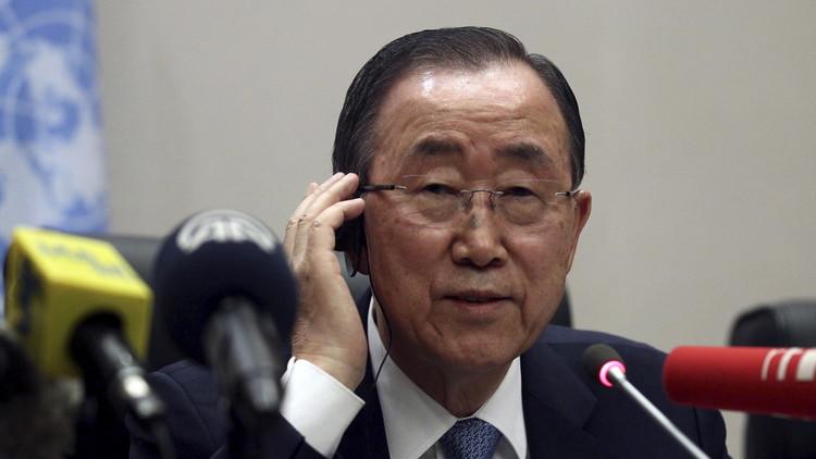 بان كي مون يرفض اتهامات إسرائيل له بتشجيع الإرهاب