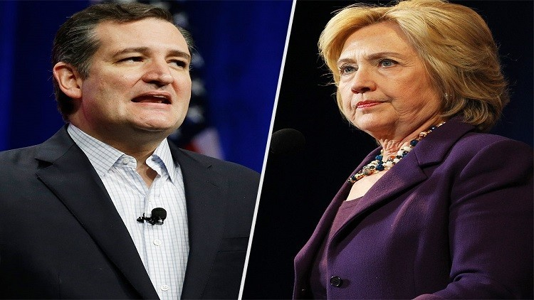 كلينتون وكروز يفوزان بالانتخابات التمهيدية في آيوا