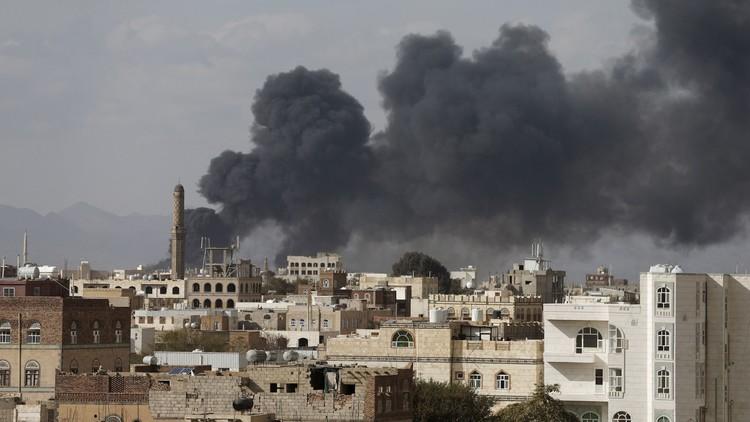 التحالف العربي يستهدف صنعاء وقوات هادي تتقدم في الجوف