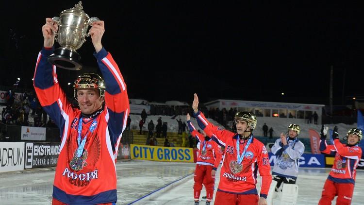 فيديو .. روسيا بطلة العالم للمرة العاشرة لهوكي الجليد بالكرة