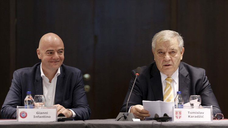 اتحادات أوروبا تتعهد بمساندة إنفانتينو في انتخابات رئاسة الفيفا