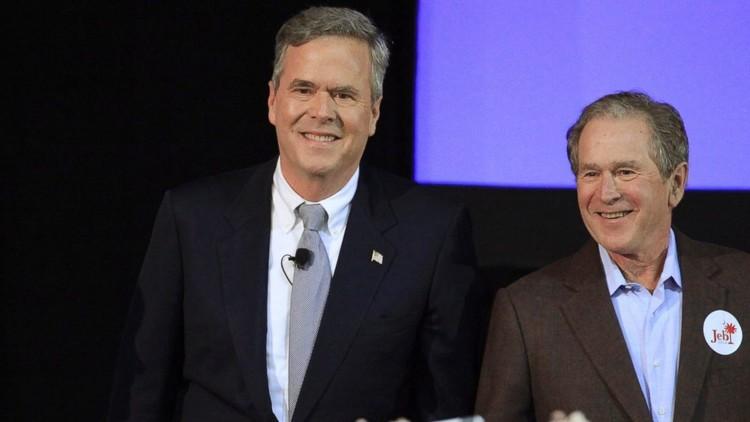 بوش الصغير يتلقى الدعم من أخيه الكبير في الانتخابات