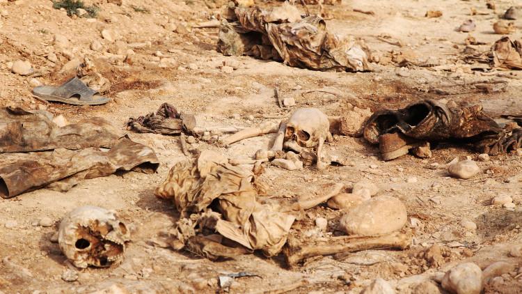 العثور على مقبرة جماعية تضم 40 جثة قرب الرمادي