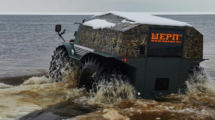 لا حواجز أمام العربة البرمائية الروسية (شيرب) (فيديو)