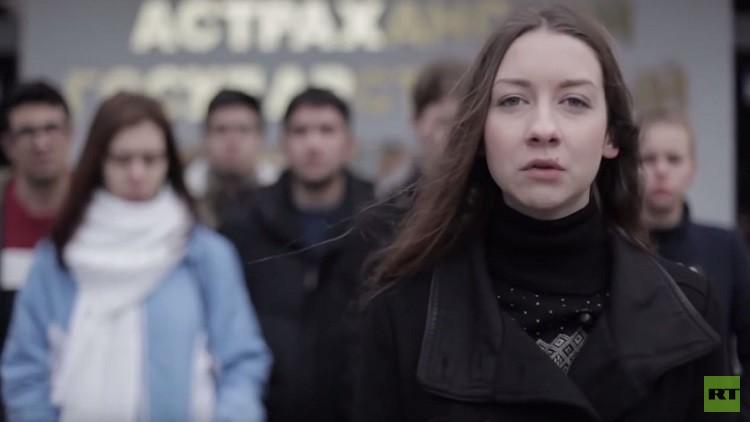 طلاب روس يطلبون من الأمم المتحدة محاكمة الرئيس الأمريكي