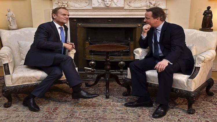 رئيس المجلس الأوروبي: لاتوجد ضمانات لبقاء بريطانيا في الاتحاد