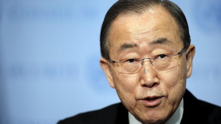 بان كي مون: يصعب نشر مراقبين في سوريا للإشراف على وقف إطلاق النار
