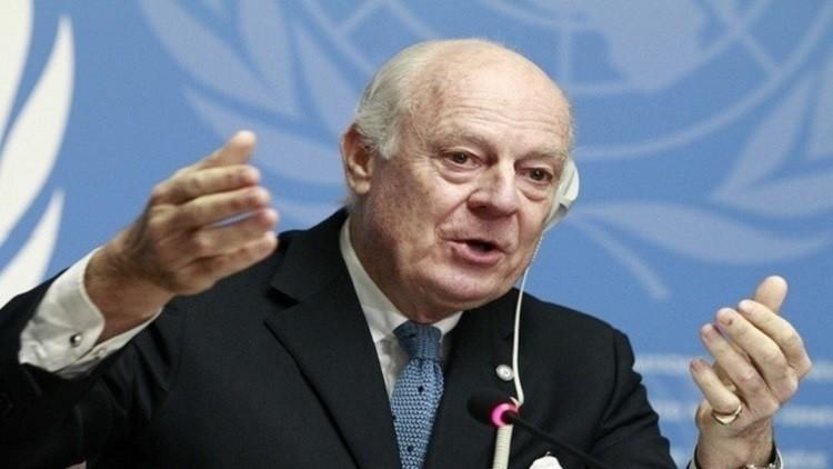 دي ميستورا: استئناف محادثات السلام السورية في الـ25 من فبراير ليس واقعيا
