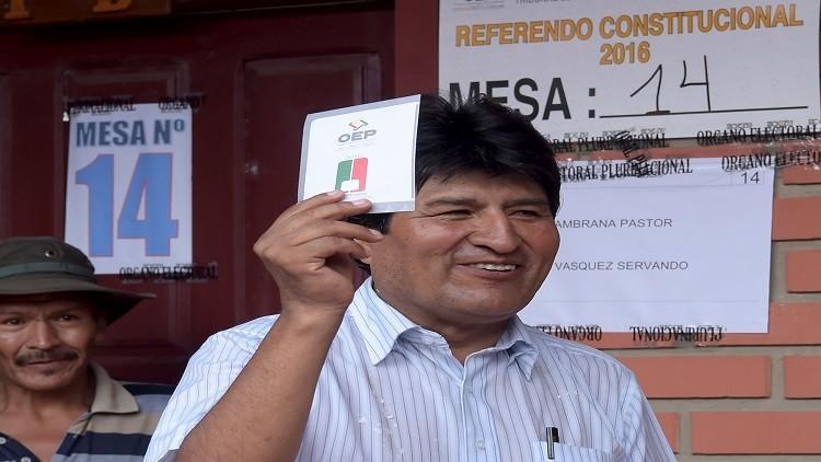 بوليفيا.. نتائج أولية للاستفتاء تظهر رفض إمكانية ترشح موراليس لولاية جديدة