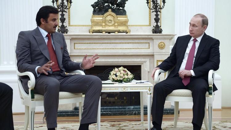 الكرملين: الرئيس الروسي وأمير قطر يتفقان على تكثيف الجهود لتجاوز الأزمة السورية