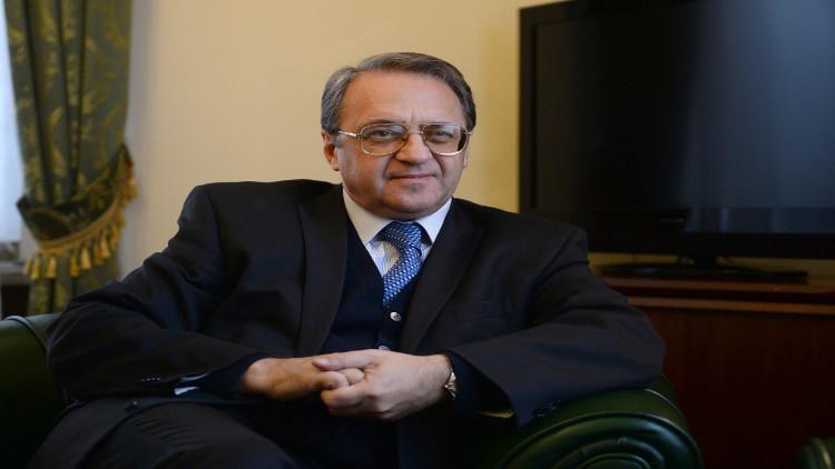 بوغدانوف يبحث مع وفد الشورى السعودي الأزمتين اليمنية والسورية