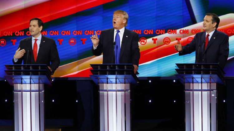 """ترامب يتعرض لهجوم غير مسبوق خلال مناظرة """"قذرة"""" للجمهوريين"""