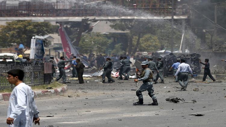 مقتل 9 أشخاصعلى الأقل في هجوم انتحاري استهدف وزارة الدفاع بكابل