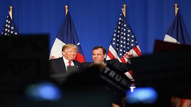 حاكم  نيوجيرسي يدعم ترامب ويرى أنه