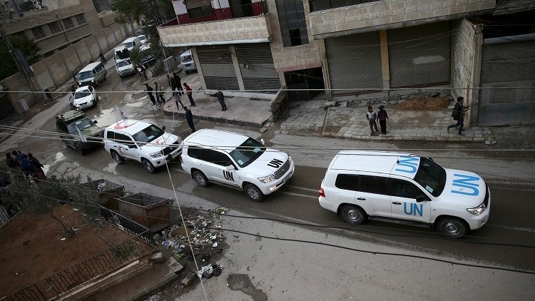 الأمم المتحدة تعتزم تقديم مساعدات لـ154 ألف سوري محاصر خلال خمسة أيام