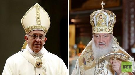 البطريرك كيريل والبابا فرنسيس