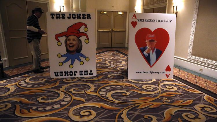 ترامب وكلينتون يحظيان بفرص كبيرة للفوز في انتخابات