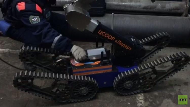 بالفيديو من روسيا.. روبوتات للمساعدة على إنقاذ عمال منجم فوركوتا
