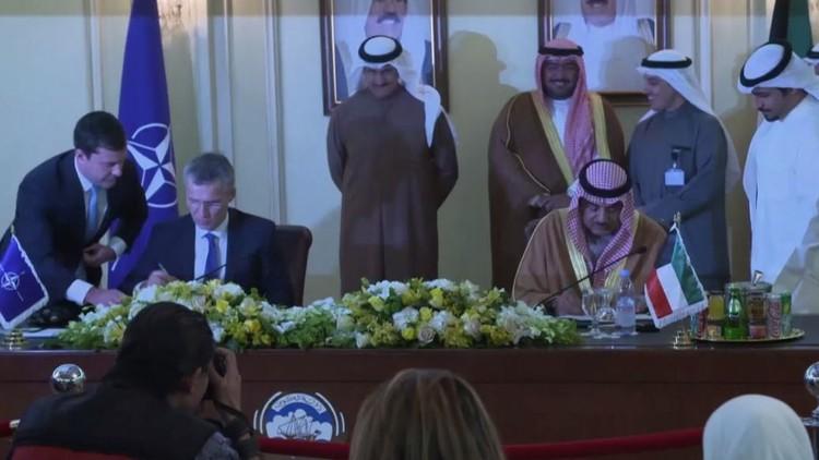 الناتو يوقع اتفاقية مع الكويت لتسهيل عبور قواته عبر أراضيها (فيديو)