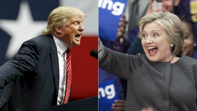 ترامب وكلينتون يتصدران انتخابات