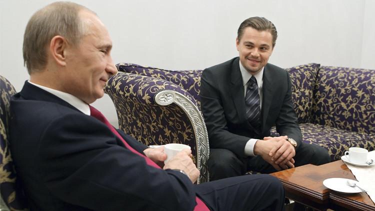 وزارة الثقافة الروسية تصف صورة بوتين ودي كابريو بـ