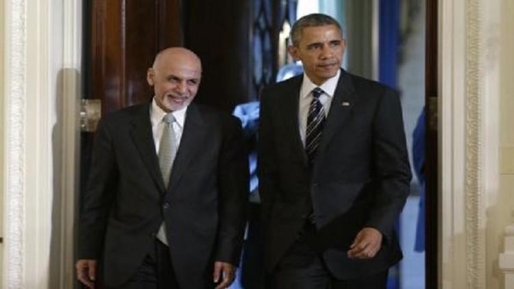 أوباما يناقش عملية السلام مع الرئيس الأفغاني
