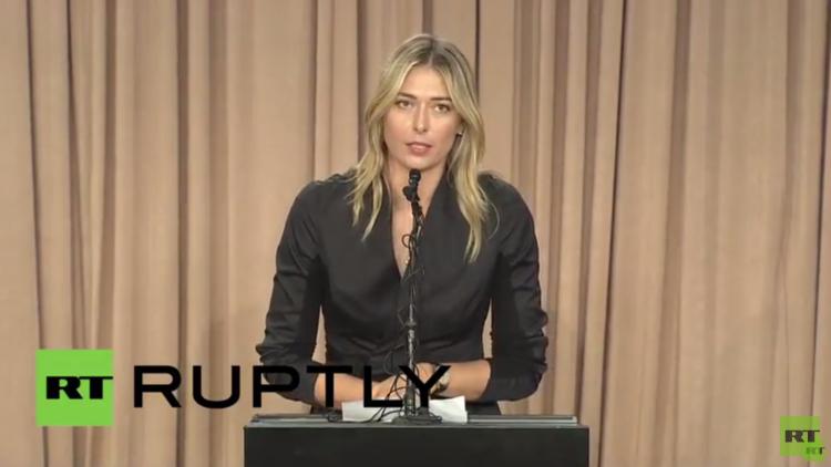 شارابوفا تعلن فشلها في اجتياز اختبار المنشطات