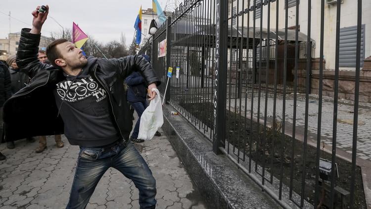 لافروف يدعو المجتمع الدولي للرد على استهداف المقرات الدبلوماسية الروسية في أوكرانيا (فيديو)