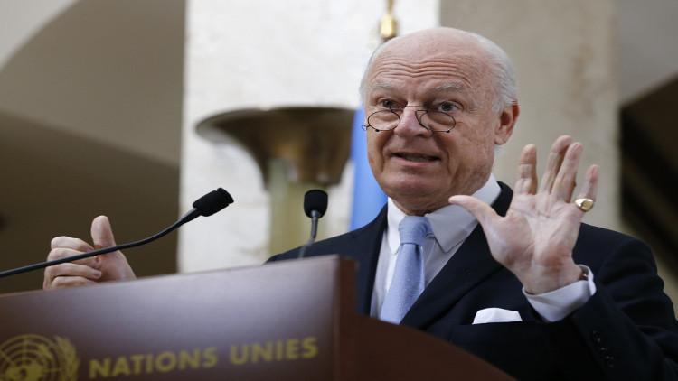 دي ميستورا يؤكد إجراء الانتخابات الرئاسية في سوريا بعد 18 شهرا