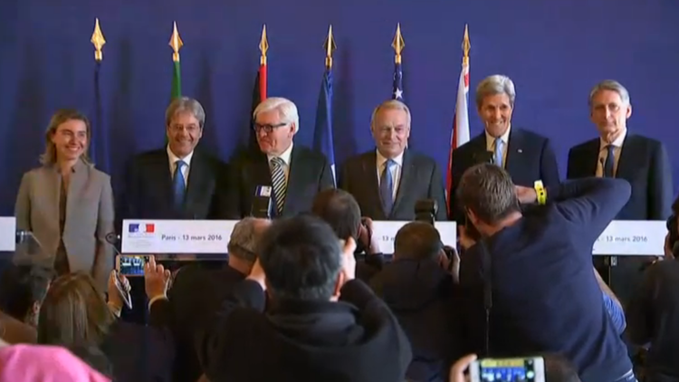 كيري ووزراء أوروبيون: لا بد من توسيع التقدم في سوريا ومفاوضات جنيف ستكون عصيبة