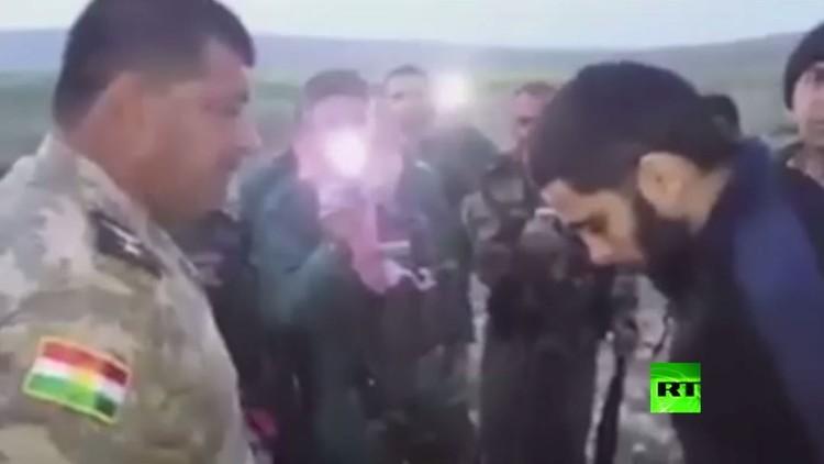 بالفيديو.. احتجاز داعشي أمريكي في العراق