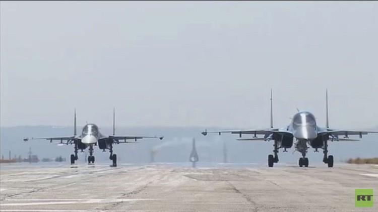 عملية مغادرة الطائرات الروسية قاعدة