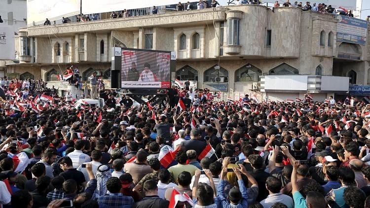 انطلاق اعتصام التيار الصدري وسط بغداد