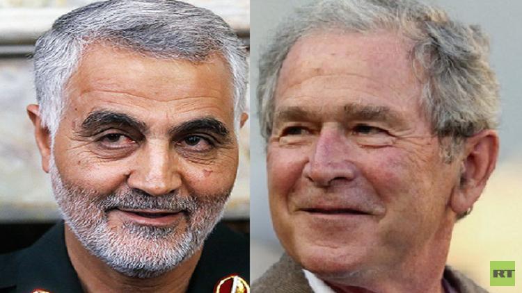 العلاقة بين جورج بوش وقاسم سليماني!